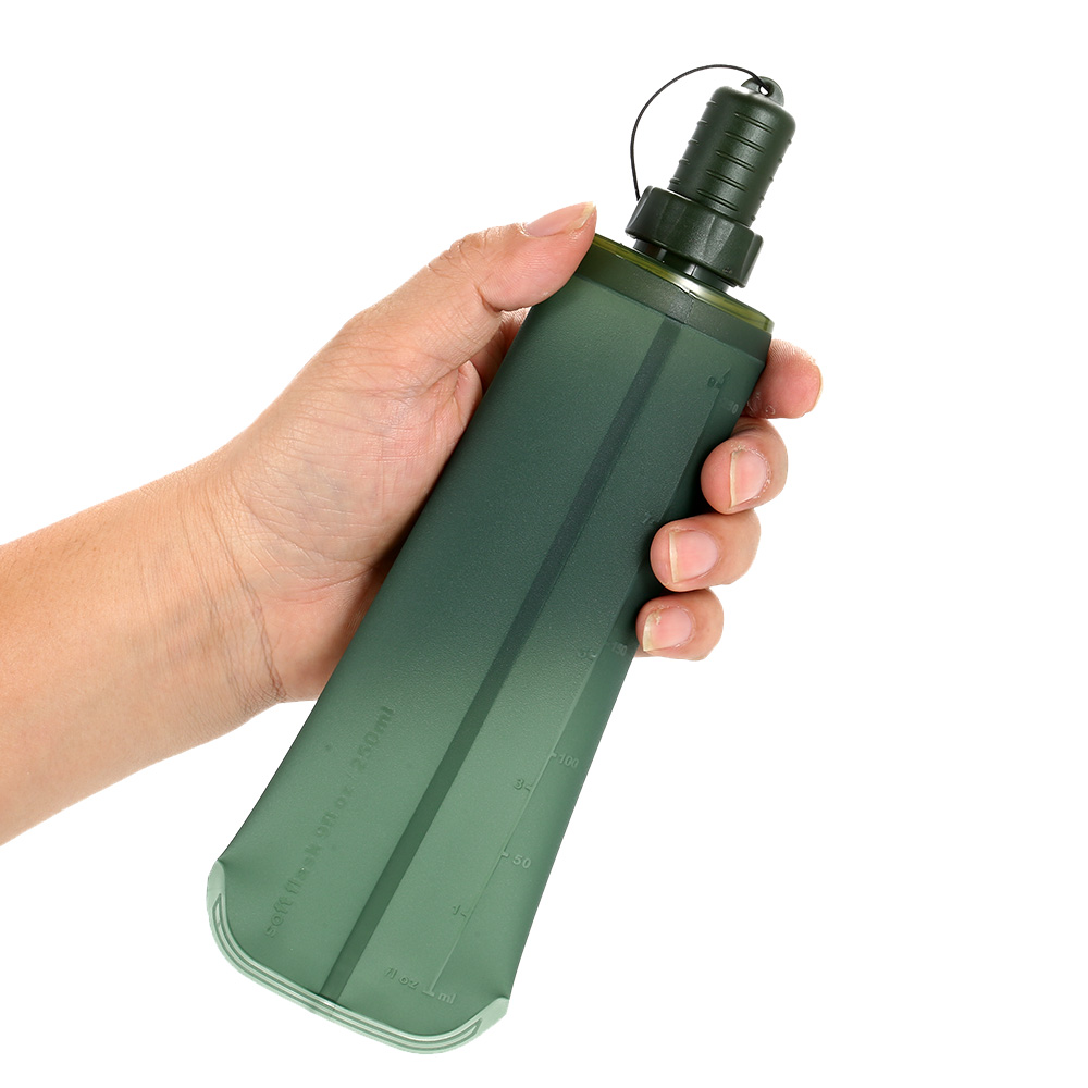 Image 3 - TPU Folding Soft Flask Sport Water Bottle Running Camping Hiking Water Bag Collapsible Drink Water Bottle Water Bag-in Water Bags from Sports & Entertainment