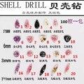100 unids/bolsa 2016 New Japan fragmentos de Cáscara de Diamante Brillo de piedra del clavo 3d decoración del arte del clavo Del Clavo de DIY Accesorios
