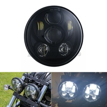 5.75 inch LED Headlamp Projection Headlight 5 3/4 inch LED For Harley Iron 883 Dyna Street Bob FXDB Sportsters 5 3 4 5 75 inch daymaker led headlight housing bucket with 5 75 inch dot headlamp for harley davidson fxwg chopper