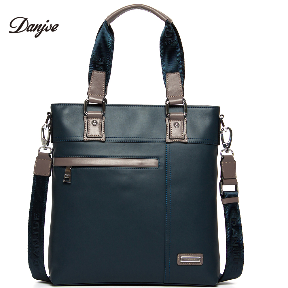 DANJUE High Quality Men Bag Genuine Leather Handbag Male Fashion Brand Shoulder Bag Trendy Style Business Messenger Bag