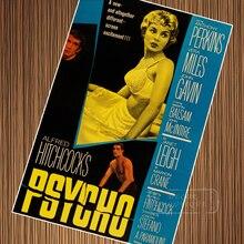 PSYCHO película clásica Alfred Hitchcock película póster vintage retro lienzo pintura DIY papel de pared decoración del hogar regalo