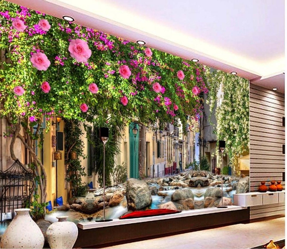 3d murals wallpaper for living room Dream flower wall custom 3d photo wallpaper 3d stereoscopic wallpaper custom photo 3d ceiling murals wall paper blue sky rose flower dove room decor painting 3d wall murals wallpaper for walls 3 d
