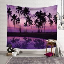 Tropical Summer Beach Wall Cloth Tapestries Palm Tree Polyester Printed Wall Hanging Tapestry Landscape Beach Towel Home Decor