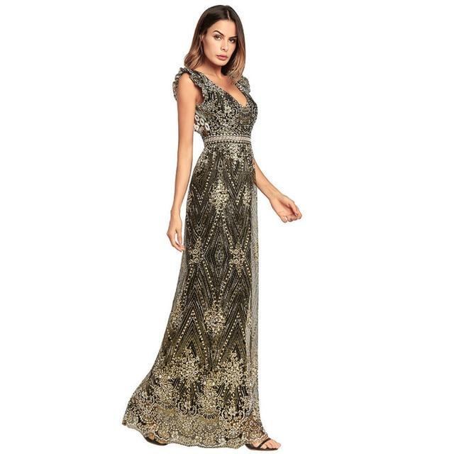 ba5ec70e20 MUXU backless long dress plus size vestidos jurken glitter black gold  vestido longo robe femme ropa mujer kleider mesh sukienka
