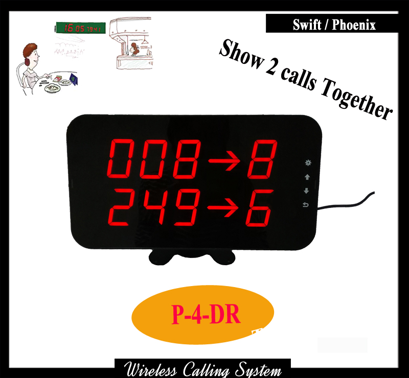 Display pager receiver For Waiter Wireless Call System Can Work with Keypad for queue management system 2 receivers 60 buzzers wireless restaurant buzzer caller table call calling button waiter pager system