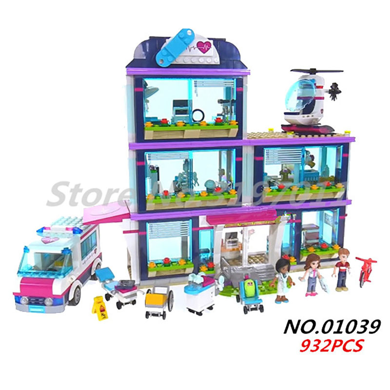Heartlake Hospital Building Blocks Girl Friends Series Compatible Legoedly Model Resort Chalet Star House Toy For Children Gifts цена