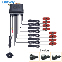 Parking-Sensor Radar-System Backup Video-Rearview Visual Car LEEWA Black/silver -Ca2936