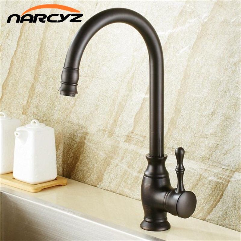 Kitchen Faucets Brass Deck Kitchen Sink Faucet Tall Rotate Spout Single Lever Hole Mixer Water Mixer Tap Torneira Cozinha XT-104 gappo new brass kitchen faucet mixer blackened kitchen sink tap single handle filtered water tap torneira cozinha crane g4390 10