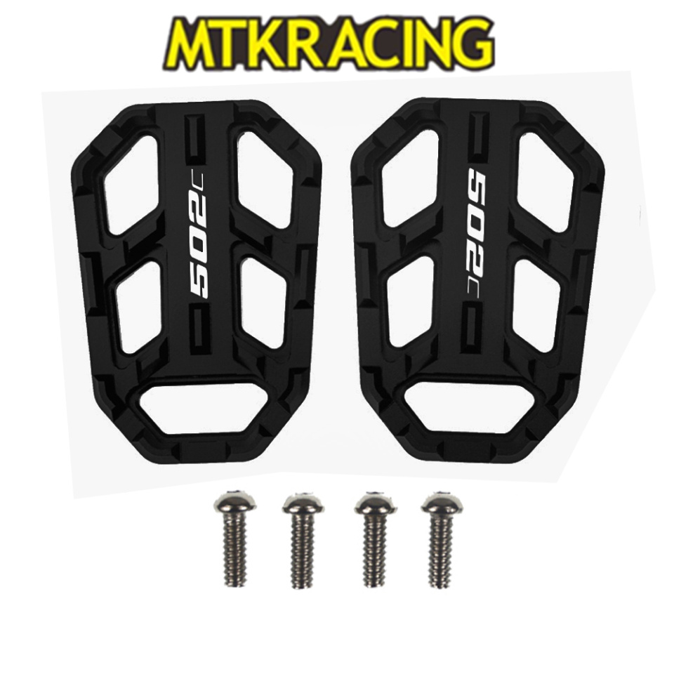 MTKRACING CNC Motorcycle Accessories Billet Foot Width Pedal Pedal Rest Pedal For BENELLI 502C 520c 2018-2019