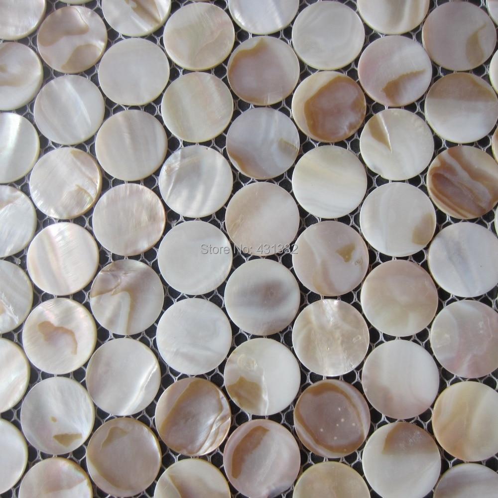 Dekorative Shell Mosaik Fliesen Rund Mosaik Factory Direct Verkauf - Fliesen mosaik rund