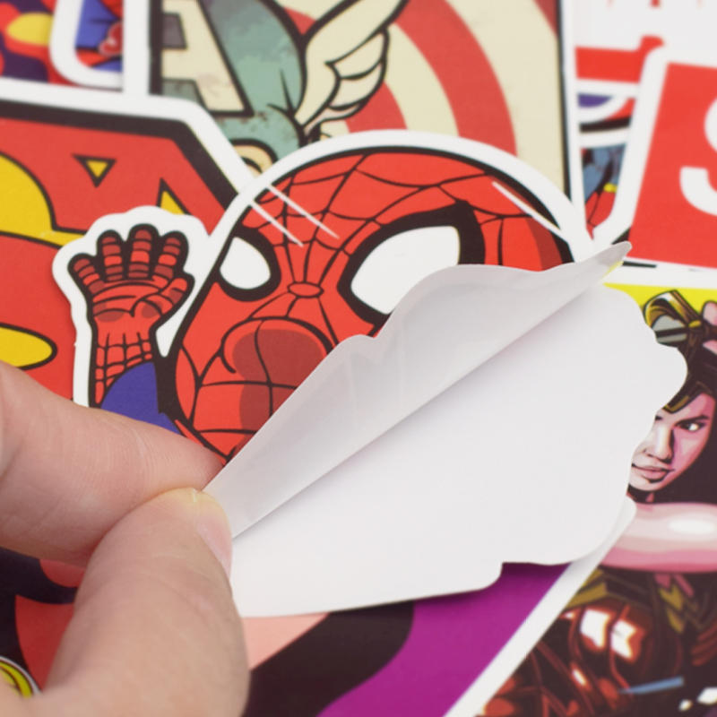 Image 5 - 50Pcs Superhero Computer Sticker Classic Anime Style Graffiti Stickers For Moto Car & Suitcase Cool Laptop Stickers Skin Decal-in Laptop Skins from Computer & Office