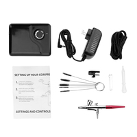 Dual Action Airbrush Air Compressor Kit Air Pump For Art Painting Tattoo Craft Cake Spray Pen