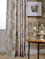 Cafe keuken gordijnen Polyester katoen Gordijnen woondecoratie Venster Behandelingen Vintage stijl Europese gordijnen 1 panel