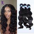 Indian Virgin Hair Wavy 3Pcs Lot Remy Queen Hair Products Human Hair Weave Wavy 7A Unprocessed Virgin Indian Hair Bundles