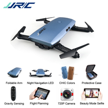 JJRC H47 Elfie Plus Selfie Drones with Camera HD G-Sensor Control Beauty Mode Wifi FPV RC Altitude Hold Foldable Arms Quadcopter(China)