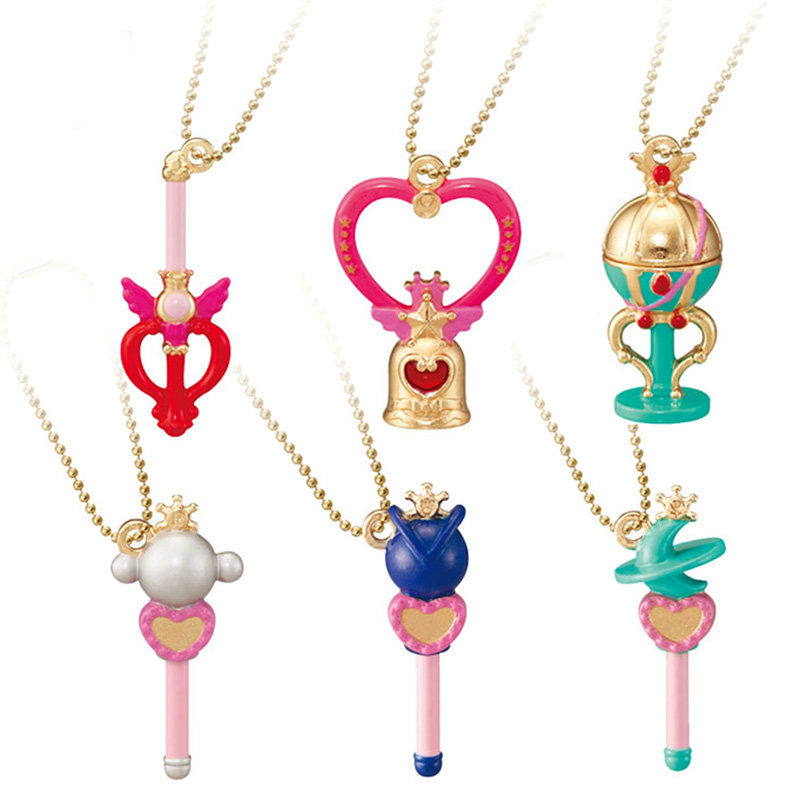 Sailor Moon Figure 20th Anniversary Die-cast Charms Gashapon Set Part 3 Rod Wand 100% Original sailor moon capsule communication instrument machine accessory gashapon figure anime toy full set 100