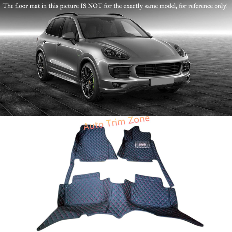 Black Interior Leather Floor Mats & Carpets Foot Pads Protector For Porsche Cayenne 2015 2016 ( High End Model )-in Floor Mats from Automobiles ...