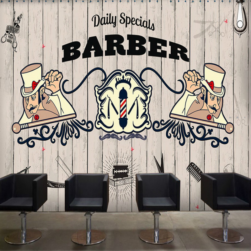 Beauty personalized custom 3D wallpaper pattern brick wall murals cafe gym Lounges barber shop 3D wallpapers for living room