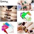 21 pçs/set Glitter Nail Art Folhas De Papel Doces Cores Nail Sticker Design Beleza Decal Decorações De Vidro Quebrado