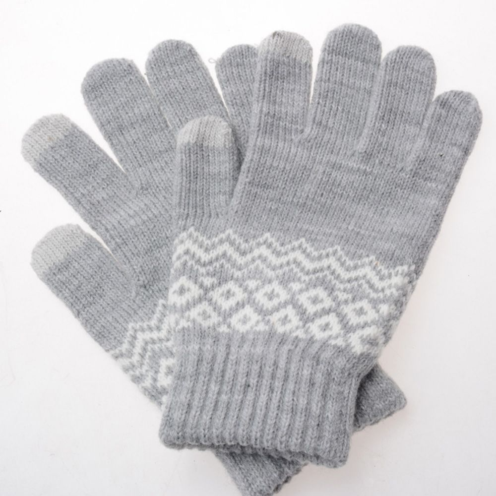 1 Pair New Gifts  Phone Fashion Gloves Touch Screen Wool Knitted Mittens