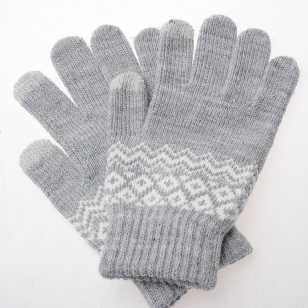 1 Para Neue Geschenke Telefon Mode Handschuhe Touchscreen Wolle Gestrickte Handschuhe
