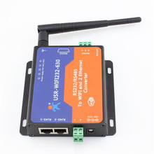 Q13433 1 piece Serial Rs 232 Rs485 to WIFI and Ethernet Server Converter, 2 TCP/IP port
