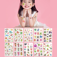Besegad 10 Sheet Waterproof Temporary Cartoon Cute Kawaii Funny Tattoo Stickers Toys Gifts Girls Kids Bithday Party Mix Style
