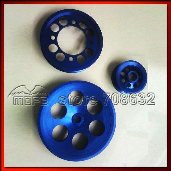 Aluminum Billet Underdrive Crank Pulley for GS300 CS300 Toyota Supra 2JZ 2JZGTE JZA80 Blue