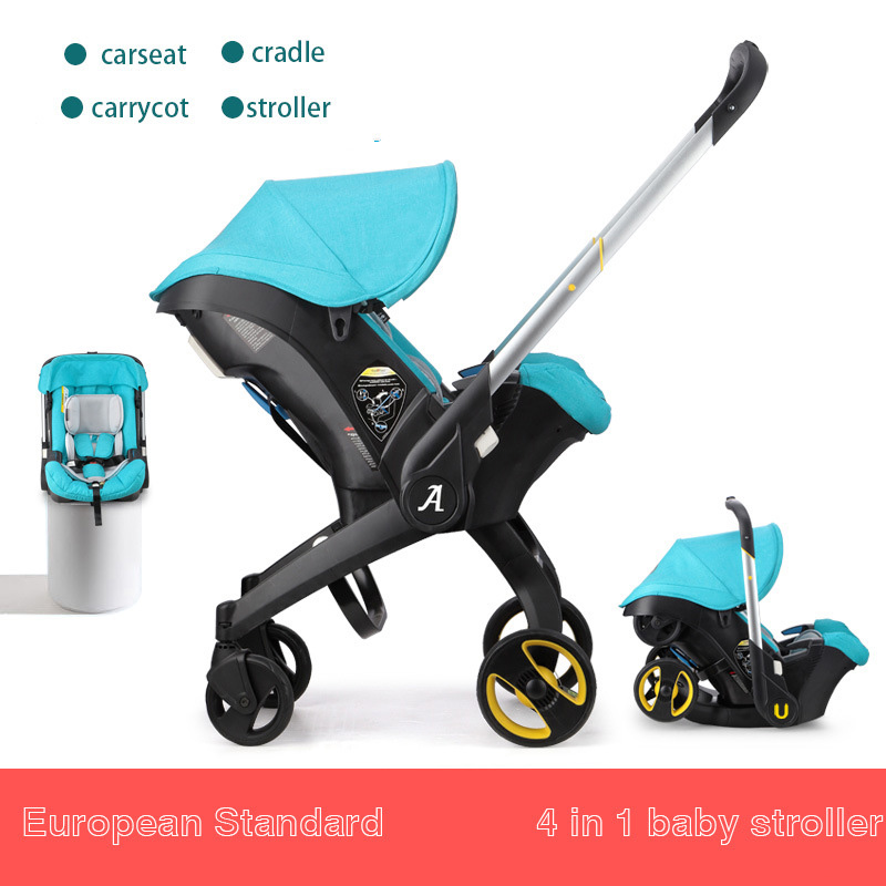 Marque bébé poussettes 3 dans 1 pliant léger avec siège de voiture et bébé bassinet Poussettes