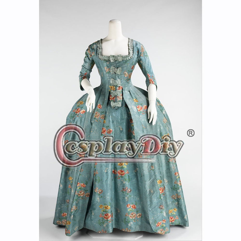 Cosplaydiy Custom Made Rococo Colonial Georgian 18thc Marie Antoinette Day Ball Gown Dress Skirt L320