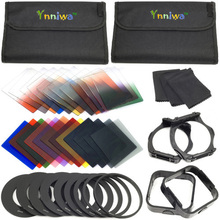 42 in1 24 Filtros de Color + 4 Cajas + 9 anillo Adaptador + 2 holder + Wide-Angle Holder + parasol para Cokin P + el envío libre + número de seguimiento