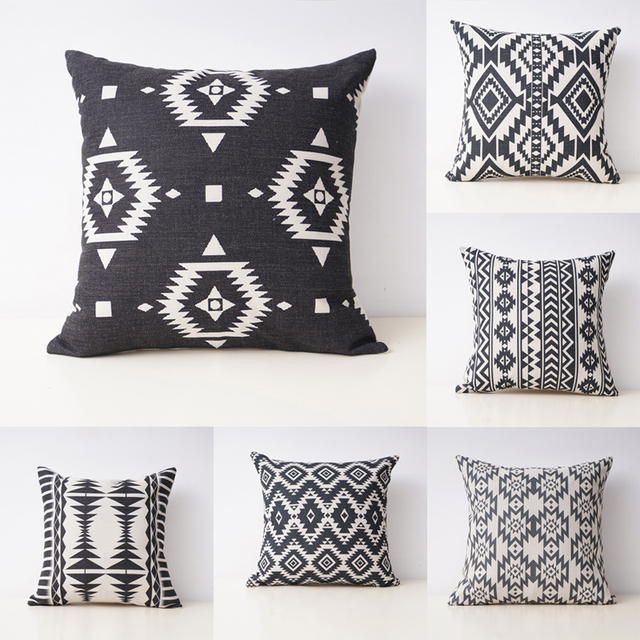 Aztec Throw Pillow Covers Geometric Decorative Pillow Cases Linen Beauteous Aztec Decorative Pillows