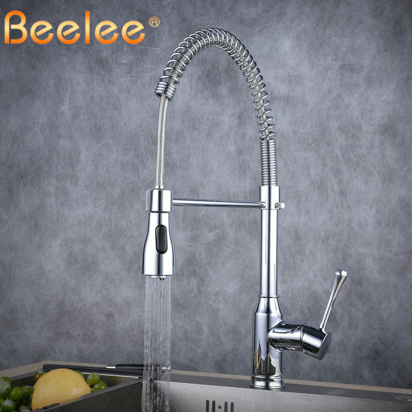 Kitchen Faucets Pull Out 360 Degree Rotation Kitchen Faucet Dual Sprayer Swivel Spout Kitchen Faucets