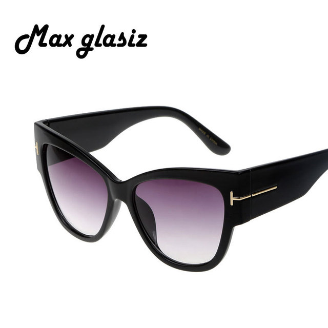 2016 NEW Gradient Points Sunglasses Tom High Fashion Designer Brands For Women Cateyes