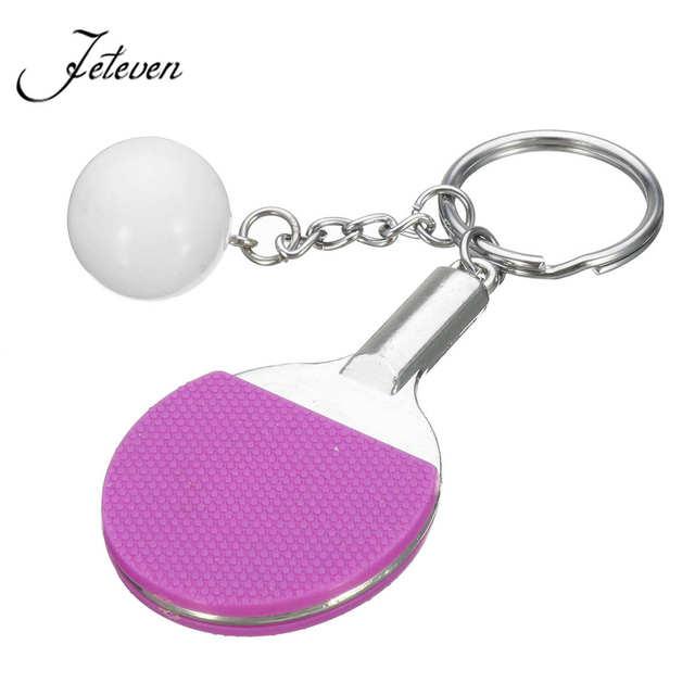1 шт. Спорт пинг-понг настольный теннис мяч бадминтон и Боулинг Мяч Брелок-сувенир подарок для мужчин и женщин оптом