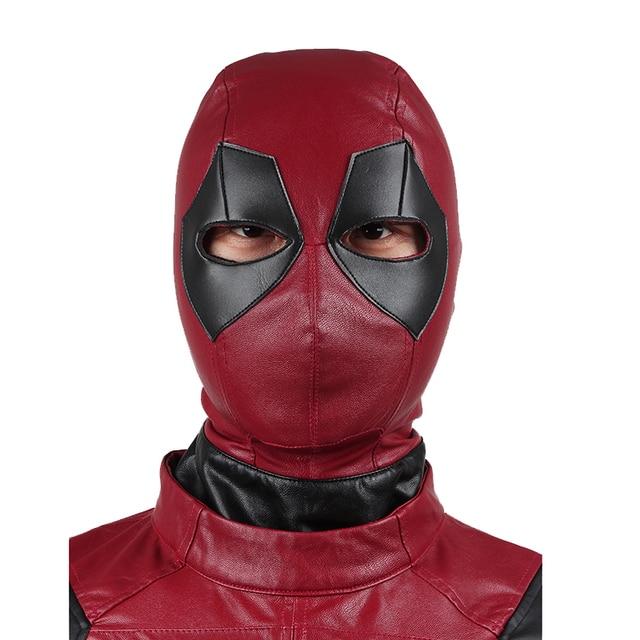 Deadpool Maschera di Cuoio DELL UNITÀ di elaborazione degli uomini Cosplay  Superhero Costume di Carnevale 37d198588727