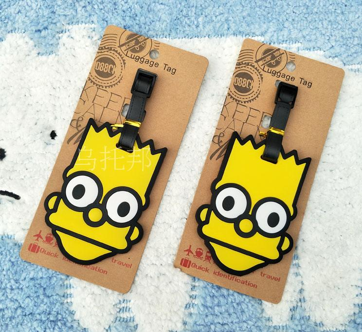 Valiz Suitcase Protective Covers O Travel Supplies The Simpsons Simpson, Head Of Soft Plastic Luggage Tag Check Card Listed