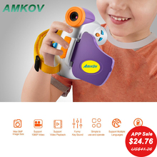 "Amkov DV-C7 1080P Children Kid Digital Video Camera 1.44"" Colorful Display Multi-Languages Micro Camcorders Outdoor Video Player(China)"