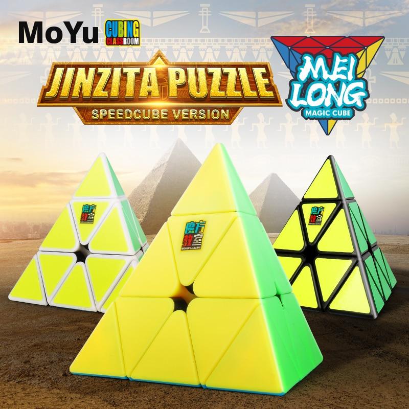 MoYu Cubagem de Sala de Aula Meilong 3x3x3 Pirâmide Cubo Mágico Stickerless Velocidade Cubes Puzzle Cubes Brinquedos Educação Profissional para as crianças