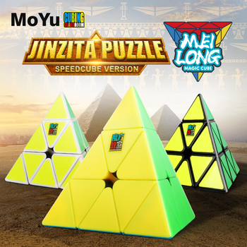 MoYu Cubing Classroom Meilong 3x3x3 Pyramid Cube Stickerless Magic Speed Cubes Professional Puzzle Cubes Education Toys For kids new moyu cubing classroom meilong pyramid cube 3x3x3 stickerless magic speed cubes professional puzzle cubes education toys