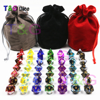 Best Deal Wholesale for 49pcs/pack Polyhedron Role Playing Game Dnd funny Dice with A High Quality Dice Bag As Gift