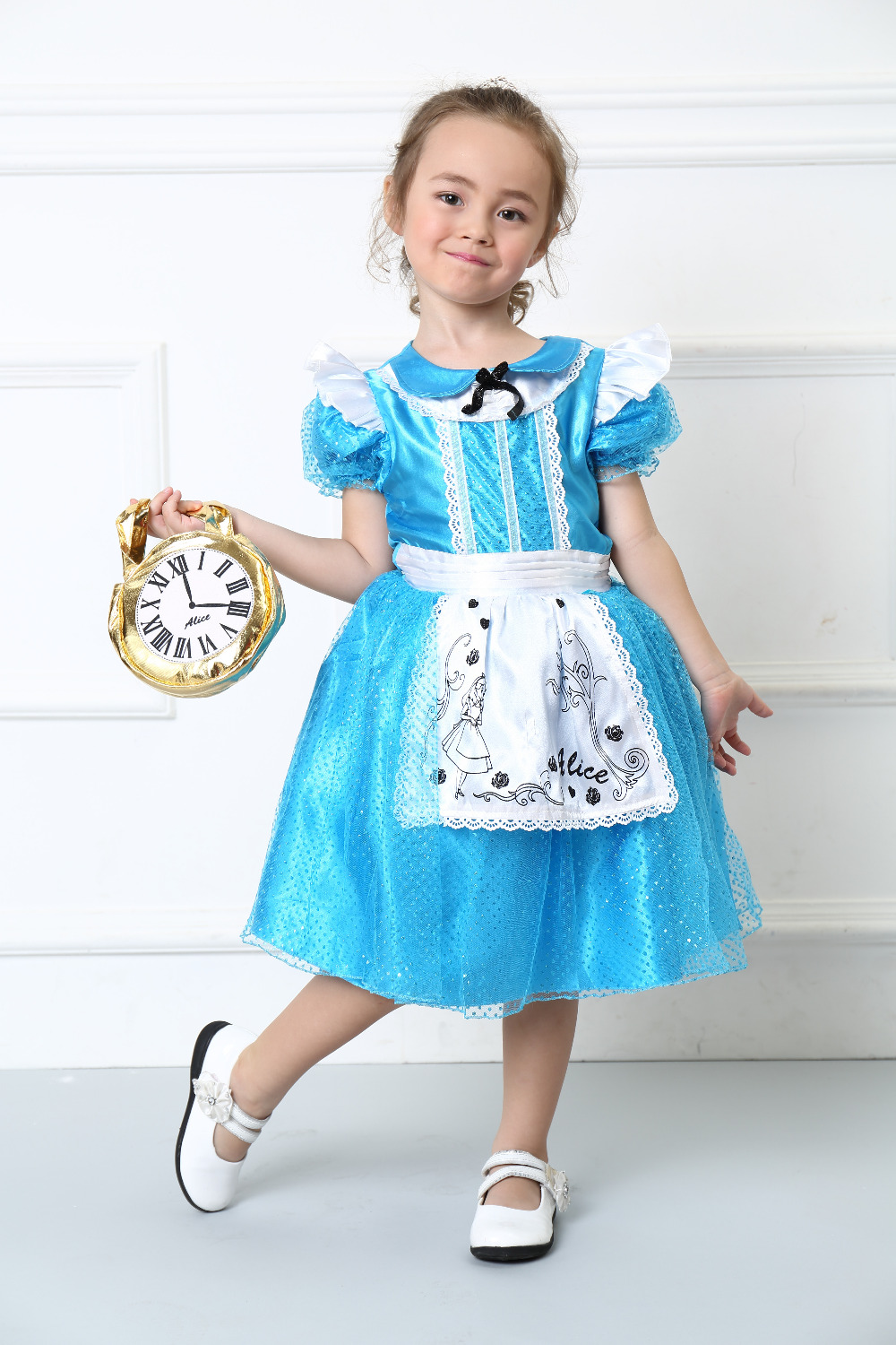 2018 Hot Children Clothing Cosplay Girls Costume Baby Girls Halloween Alice Princess Dress Costume Kids Stage Costume