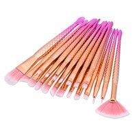 Makeup Brushes 20 Pcs Unicorn Mermaid Soft Synthetic Professional Makeup Foundation Powder Blush Eyeliner Mermaid Brushes