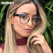 Belmon Optical Eyeglasses Women Fashion Prescription Spectacles Simple Protective Glasses Frames Clear Lens Eyewear RS812