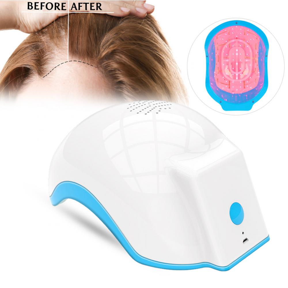Laser Therapy Hair Growth Helmet Device Laser Treatment Anti Hair Loss Promote Hair Regrowth Laser Cap Massage Equipment недорого