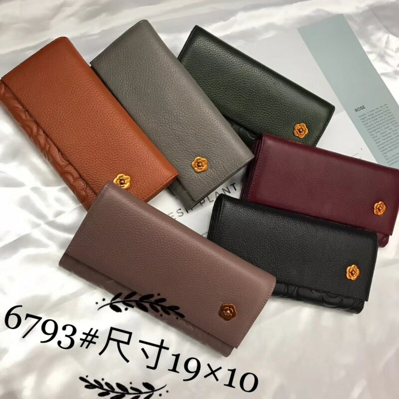 Fashion hot new womens wallet long leather multi-card bit simple multifunctional retro thin wallet large capacity