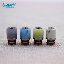 Glotech Newest top quality Jade stone +Stainless Steel 510 thread drip tip mouthpiece for  RDA RBA Atomizer vaporizer