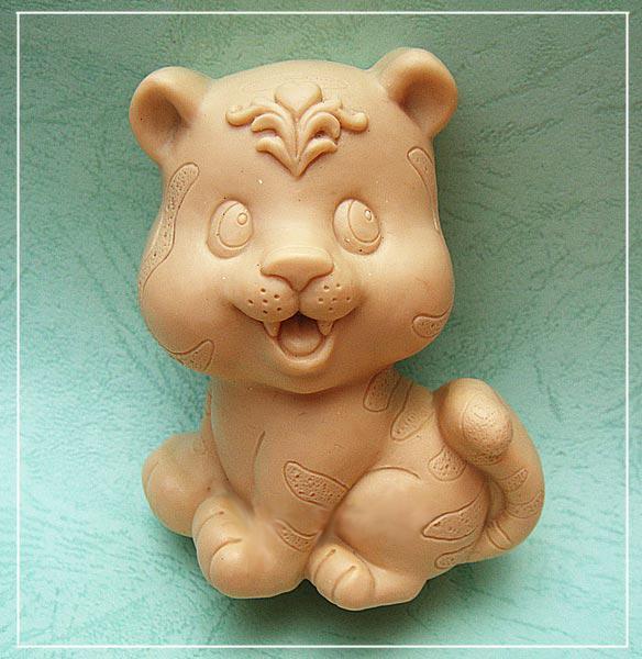 Tiger silikonová forma na mýdlo Ručně vyráběná 3D forma pro kutily Carft formy S243