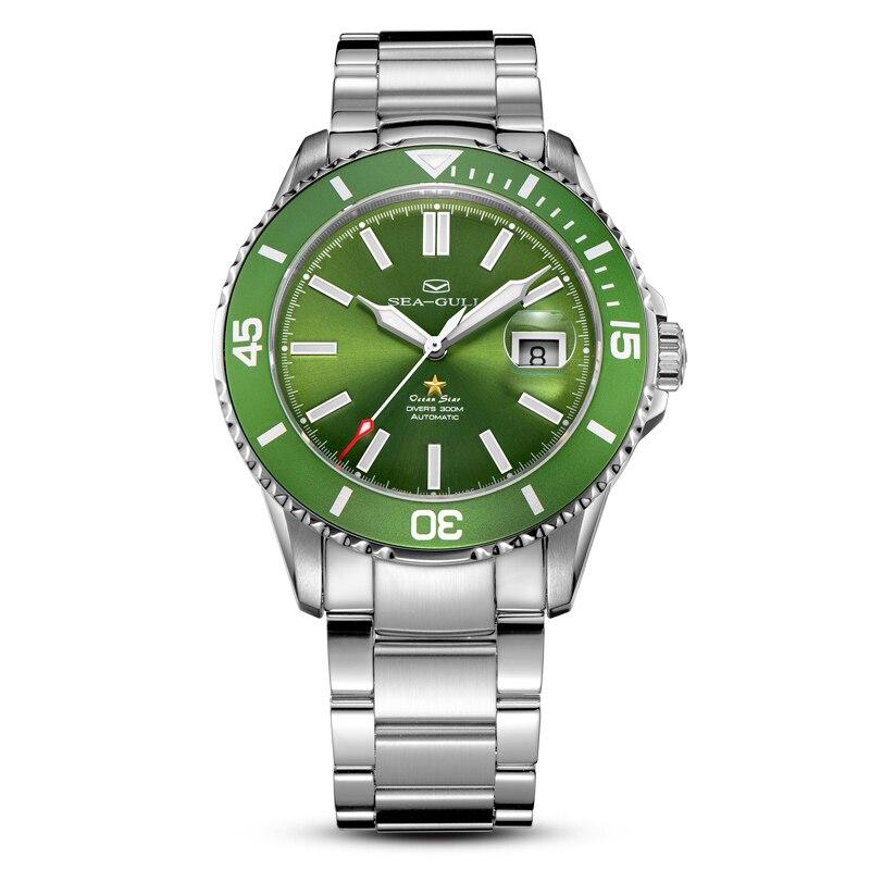 Montre goélette originale Ocean Star 816.92.1203 automatique 30Bar homme Divers montre de natation cadran vert 816.523