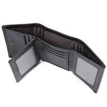 Leather RFID  Black Wallet for Men Money Wallets Man Mini Brand Real ID Card Holder Male Short
